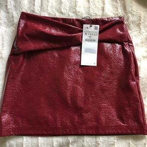 Zara pleather skirt